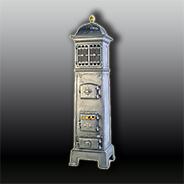 Антикварная чугунная отопительная печь АЧ11