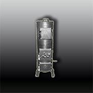 Антикварная чугунная отопительная печь АЧ18