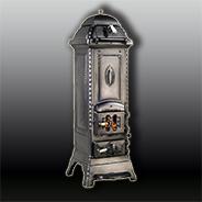 Антикварная чугунная отопительная печь АЧ33