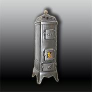Антикварная чугунная отопительная печь АЧ37