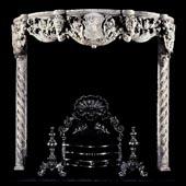 Антикварный камин АМК1