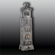 Антикварная чугунная отопительная печь АЧ20