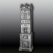 Антикварная чугунная отопительная печь АЧ30