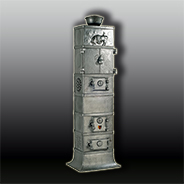 Антикварная чугунная отопительная печь АЧ44