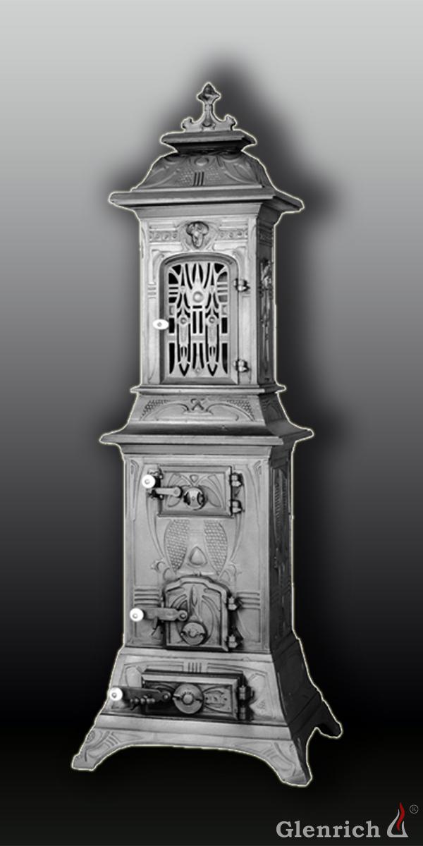 Антикварная чугунная отопительная печь АЧ64