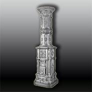 Антикварная чугунная отопительная печь АЧ68