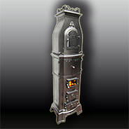 Антикварная чугунная отопительная печь АЧ10