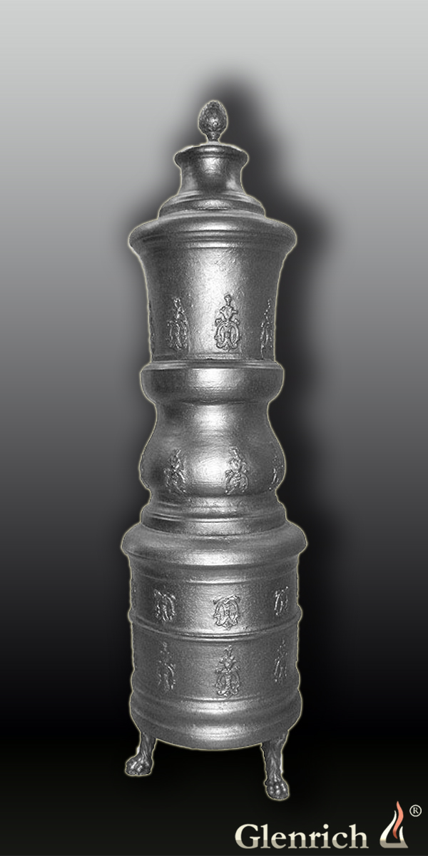 Антикварная чугунная отопительная печь АЧ19