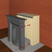 Схема монтажа Английского камина