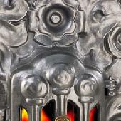 Антикварная чугунная отопительная печь АЧ3