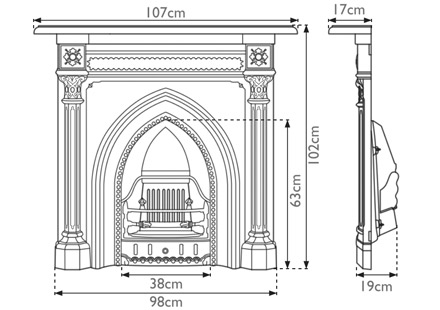 gothic-cast-iron-combination-fireplace-technical