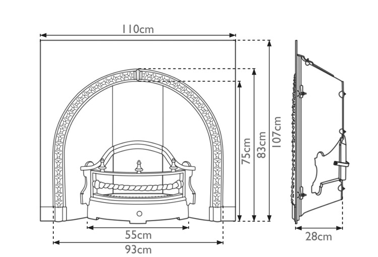 kensington-cast-iron-fireplace-insert-technical