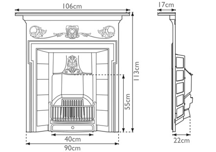 morris-cast-iron-combination-fireplace-technical