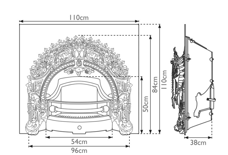 rococo-cast-iron-fireplace-insert-technical