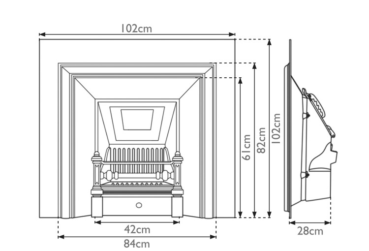 royal-cast-iron-fireplace-insert-technical