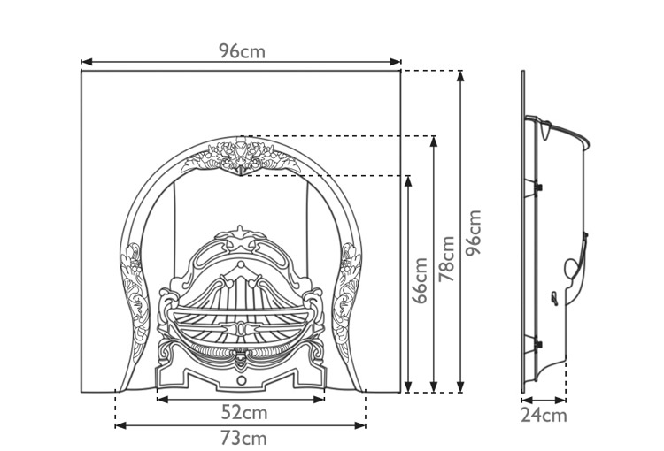 tiffany-cast-iron-fireplace-insert-technical